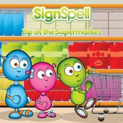 SignSpell Zip at the Supermarket Book